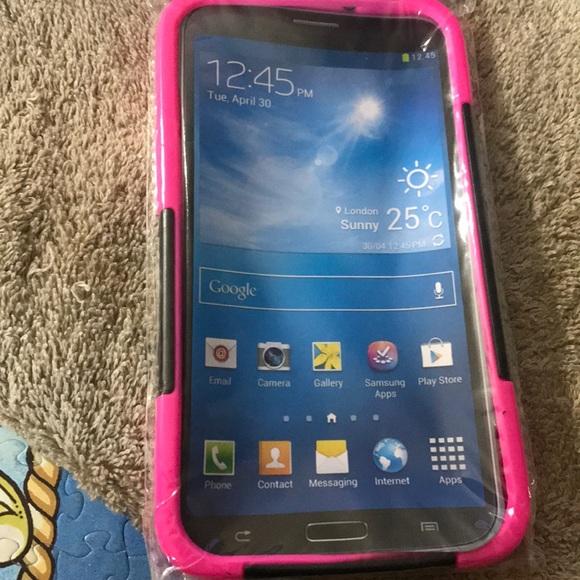 A iPhone plus phone case pink / black. Hot item